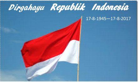 Dirgahayu Republik Indonesia Kita, Padamu Negeri Kami Berbakti, Bagimu Negeri Jiwa Raga Kami…
