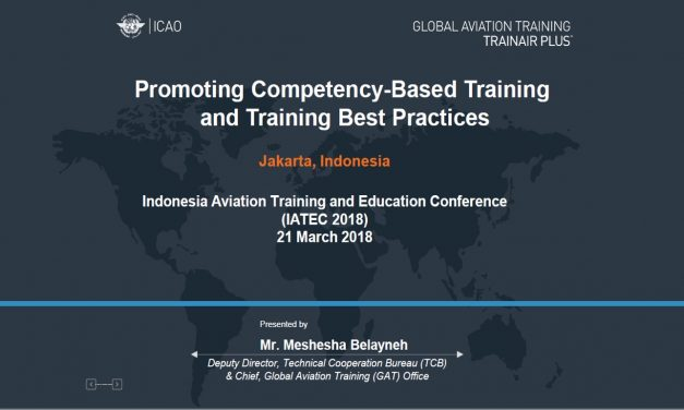 Promoting Competency – Best training and training best pratice (ICAO)