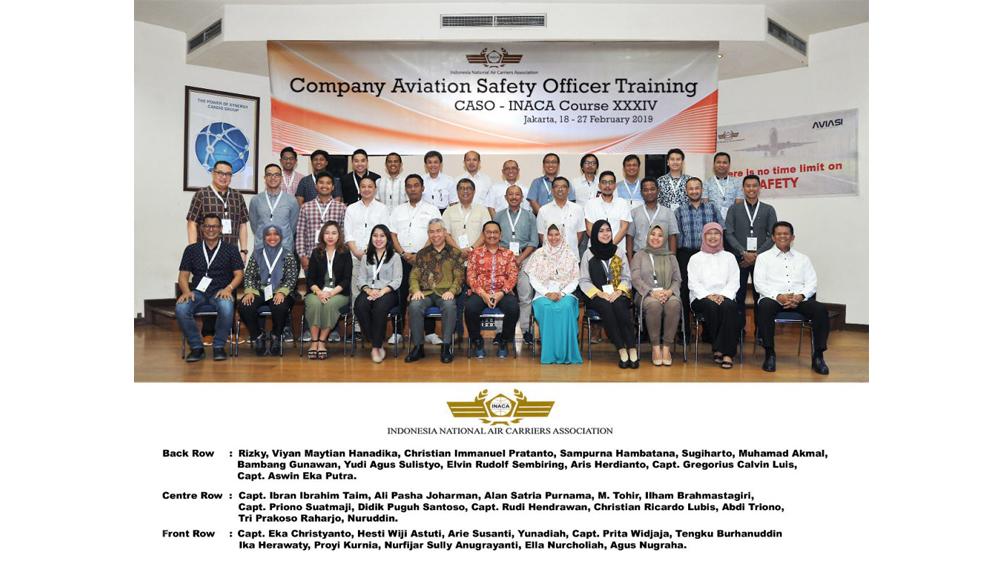 Company Aviation Safety Officer Training (CASO) XXXIV