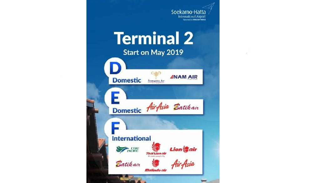 Informasi perubahan terminal keberangkatan bandara Soetta
